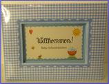 Willkommen - Baby Schatzkästchen - blau