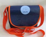 Dogi Bag - Umhängetasche mit orangen Träger