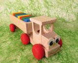 Lustiger LKW - ca. 22 cm lang - mit Bauklötze - für Kinder ab 3 Jahre