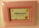 Willkommen - Baby Schatzkästchen - rosa