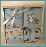 Baby Ausstattung 4 teilig - blau - Playshoes