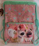 Beutel mit Außentasche rosa