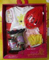 Roller Skates Bekleidung für Stehpuppe von OG Doll - für Kinder ab 3 Jahre
