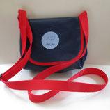 Dogi Bag - Umhängetasche mit roten Träger
