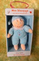 Kleine Schmusepuppe - Baby Glück - blau - ca. 15 cm