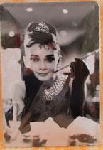 Blechschild Audrey Hepburn