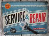 Blechschild Service & Repair als Deko für die Werkstatt
