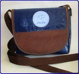 Dogi Bag - de Luxe - Umhängetasche mit braunem Kunstleder