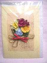 """Handgemachte Karte Bouquet """"Alles Gute"""""""