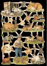 Glanzbilderbogen Hasen