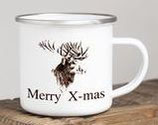 "Emaille-Tasse ""Merry X-mas"""