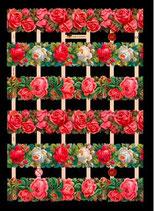 Glanzbilder-Bogen Rosenband