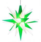 Herrnhuter® Stern grün/weiß klein mit LED
