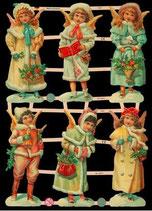 Glanzbilder-Bogen Engel-Kinder