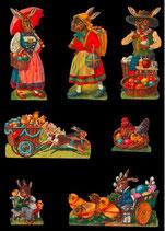 Glanz-Reliefbilder Osterhasen