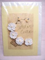 """Handgemachte Karte Blüten """"Alles Gute"""""""