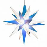 Herrnhuter® Stern blau/weiß klein mit LED