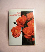 """Mini-Karte """"Zum Geburtstag"""" Rosenmotiv"""