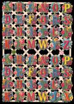 Glanzbilder-Bogen Alphabeth