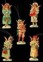 Geschenkanhänger Glanz-Reliefbilder Engelmädchen