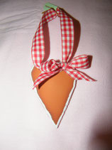 Terracotta-Herz lang