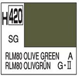 Mr Hobby Aqueous Hobby Colour  RLM80 Olive Green COD: H420