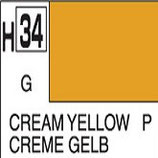 Mr Hobby Aqueous Hobby Colour Cream Yellow COD: H34