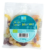 Veggie Sour Worms Fruchtgummi 100g