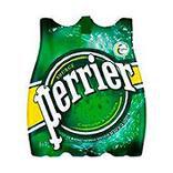 Eau minérale naturelle gazeuse PERRIER pack pet 6x1 litre