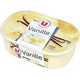 Glace vanille bac U 500 gr