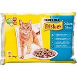 Aliment pour chat adulte Mijotés en sauce aux poissons 4 x 100 gr