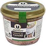 Terrine de canard au poivre vert U SAVEURS verrine 180g