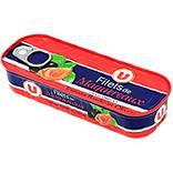 Filets maquereaux sauce tomate basilic olives U bte 1/4 169g
