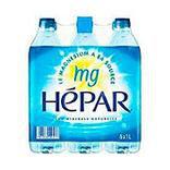 Eau minérale naturelle HEPAR, 6 bouteilles en plastique de 1 litre