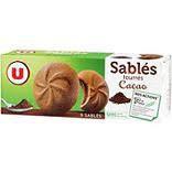 Sablés fourrés cacao U 125 gr