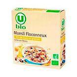 Produits U Muesli floconneux 30% de fruits et graines U BIO 500g