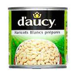 Haricots blancs préparés D'AUCY 1/2, 250g