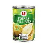 Poires demi-fruits au sirop léger U boîte 1/2 225g