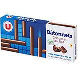 Batonnets au chocolat au lait U paquet 150g