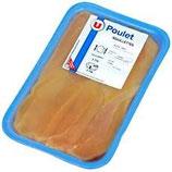 Aiguillette de poulet jaune, U, né, élevé et abattu en France, 8 pièces 240 g