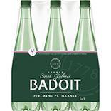Eau minérale naturelle gazeuse BADOIT, 6 bouteilles de 1 litre