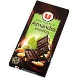 U Chocolat Noir Amandes 200 gr