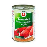 Tomates entières pelées au jus U boîte 1/2 240g