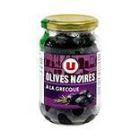 Olives noires entières façon grecque U bocal 250g 37cL