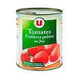 Tomates entières pelées au jus U boîte 4/4 476g