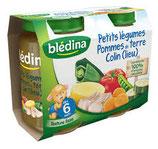 Petits légumes colin Blédina 2 * 200 gr