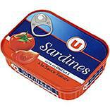 Sardines à la sauce tomate U boîte 1/5 135g