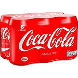 COCA-COLA, 6 boîtes de 33cl