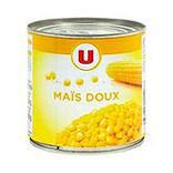 Maïs doux en grains U boîte 1/2 285g