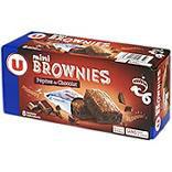 Mini brownies pépites chocolat U x8 240g